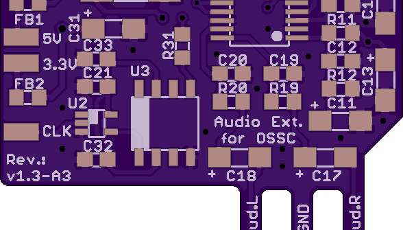 OSSC Audio Board Upgrade