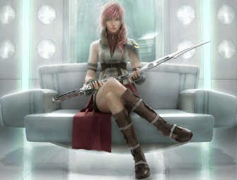 Lightning Character Art from Final Fantasy 13