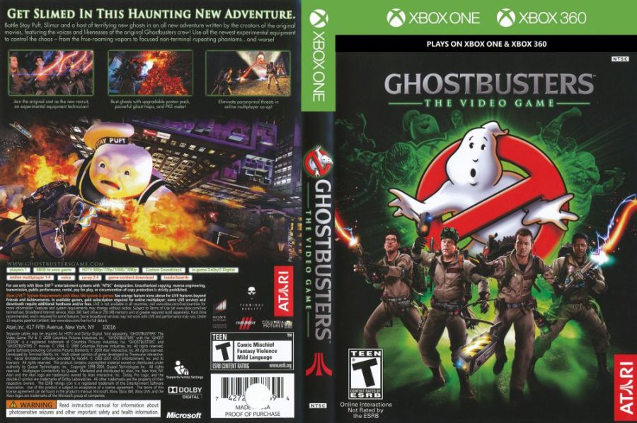 Ghostbusters  The Video Game   XBOX 360   VideoGameX Ghostbusters  Video Game  BC