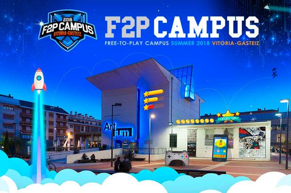 F2P Campus Vitoria-Gasteiz surge en 2018 con el objetivo de convertir la capital vasca en un ecosistema que propicie el desarrollo de una industria del videojuego free to play.