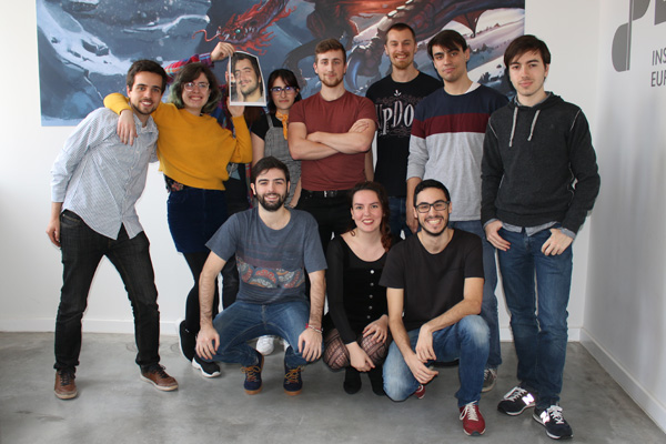El equipo de Duck off Team, alumnos de cuarto grado de la universidad del videojuego DigiPen Bilbao