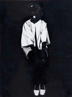 Inghild Karlsen, selvportrett med refleks, 1982. Foto: Leif Karstensen