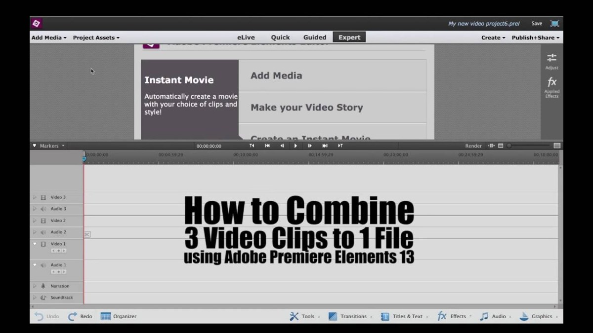 How to combine 3 video clips to one file using adobe premiere how to combine 3 video clips to one file using adobe premiere elements 13 videolane ccuart Choice Image