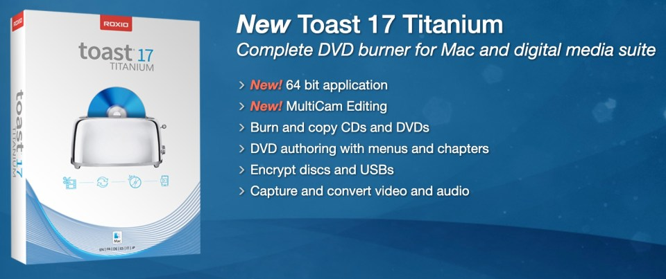 Toast 17 Titanium Professional DVD Authoring Software [for Mac]