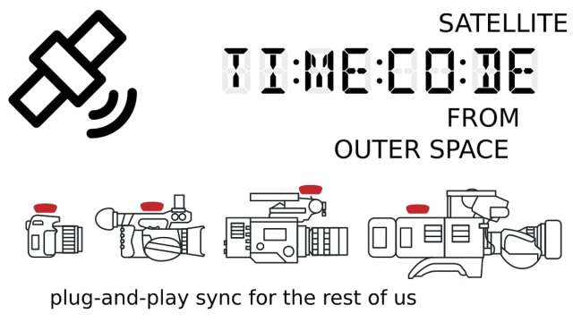How would you like to get your Time Code from Outer Space on your next project?