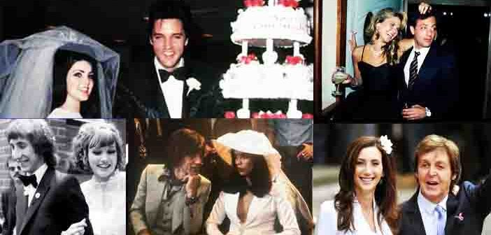 Wedding Rock Pictures: From Elvis to Jagger and anecdotes.