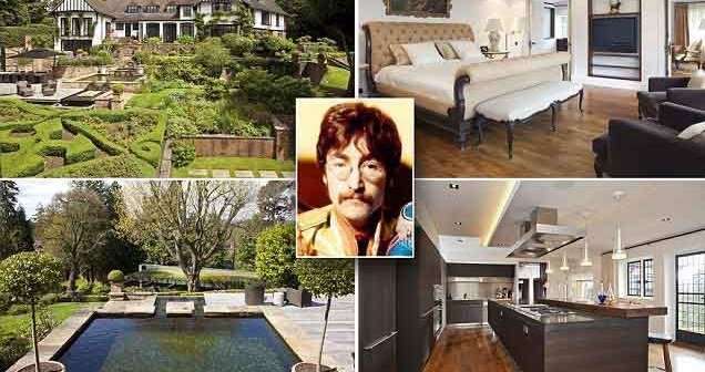 look inside John Lennon's Surrey home estate on sale for £8.9m.