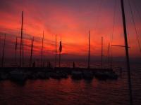 Videonaus Gardasse Bardolino sunset