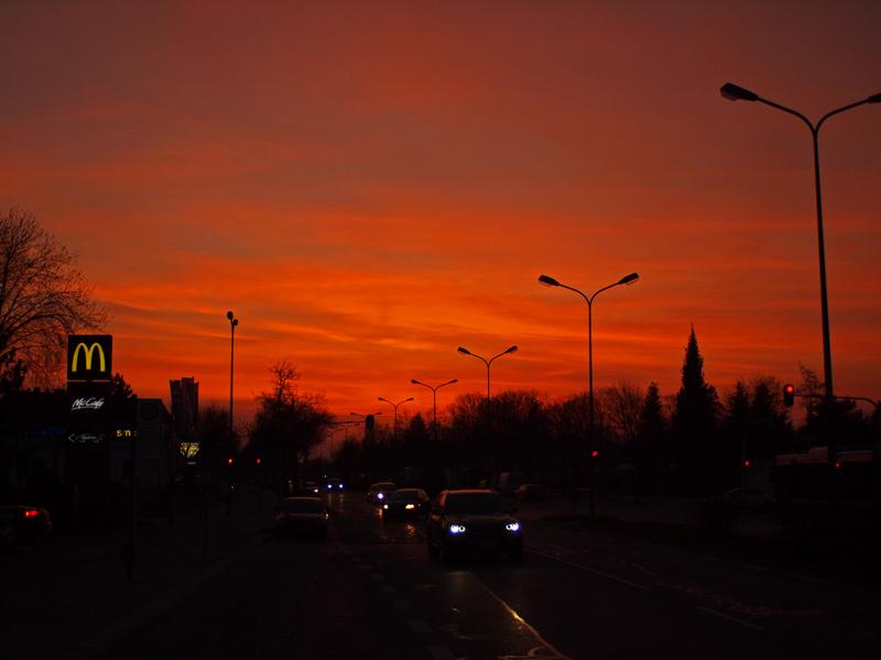 Vidoenauts Wasserburger Strasse München Sonnenuntergang