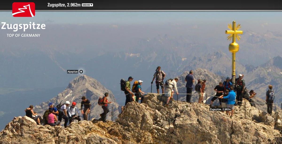Videonauts Zugspitze Gipfelkreuz Webcam