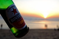 Videonauts Bali Kuta beach sunset Bintang backpacking
