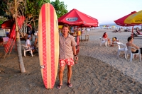 Videonauts Bali Kuta beach surfboards backpacking