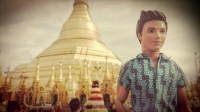 Videonauts backpacking Burma Rangun Pagode chief