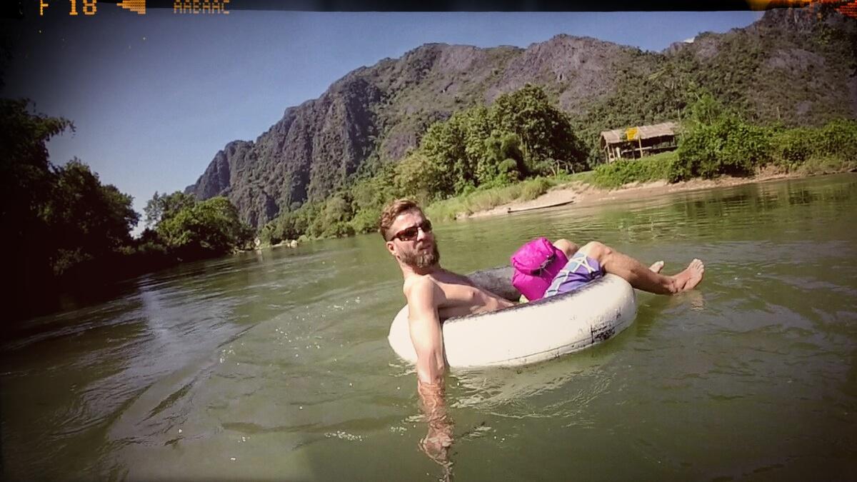 Videonauts Sabbatical Laos Vang Vieng tubing