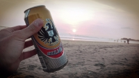 Videonauts Costa Rica beach and beer backpacking