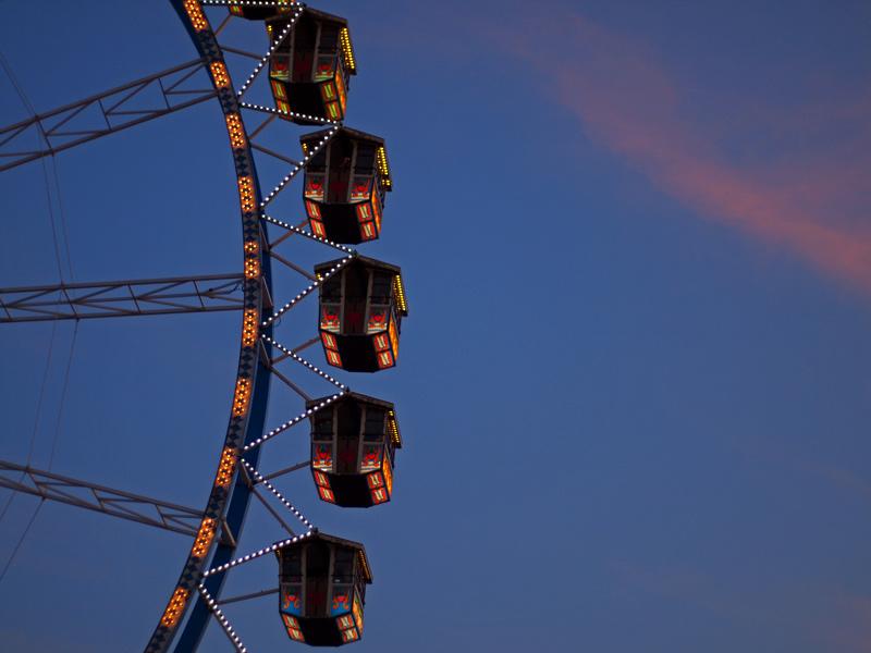 Videonauts Wiesn 2012 Riesenrad am Abend