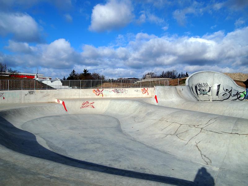 Videonauts Im Geflielde Skatepark im Winter