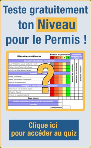 Teste ton niveau pour le permis