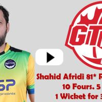 Shahid Afridi 81 Runs on 40 Balls GT20 Canada 2019 Highlights