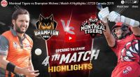 GT20 4th match Highlights
