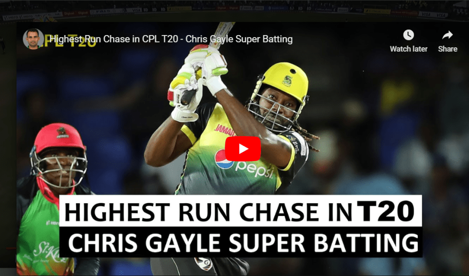 highest run chase CPL