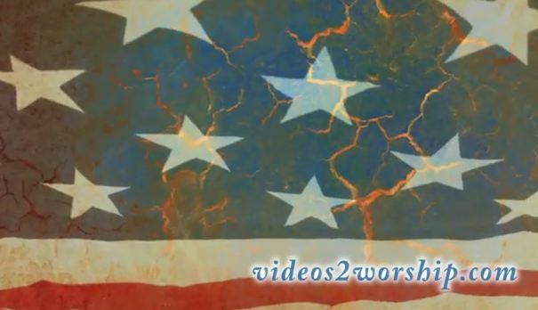 Patriotic Worship Loop: Waving Flag