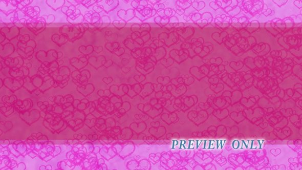 Floating Pink Hearts Motion Background