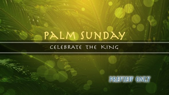 Palm Sunday Title Motion Video Backdrop
