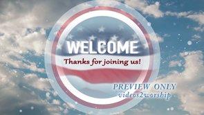 Patriotic Welcome Motion Video Loop
