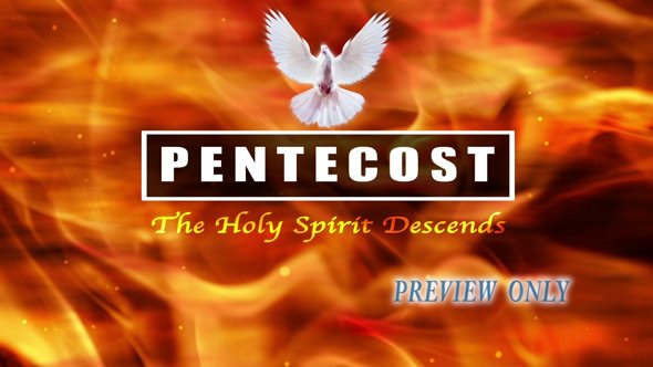 Pentecost Title Background Video