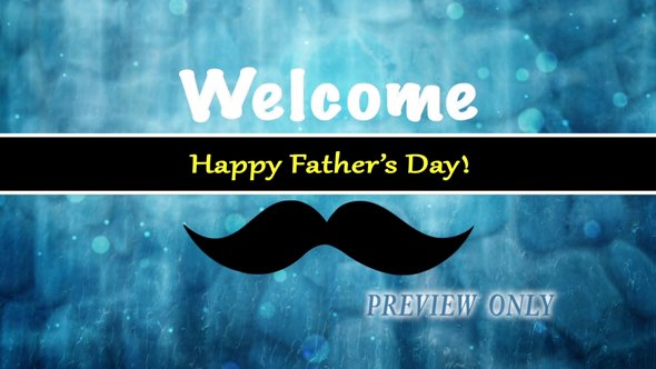 Father's Day Welcome Background