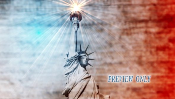 Statue Of Liberty Patriotic Motion