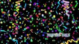 Free Falling Confetti Motionn Background