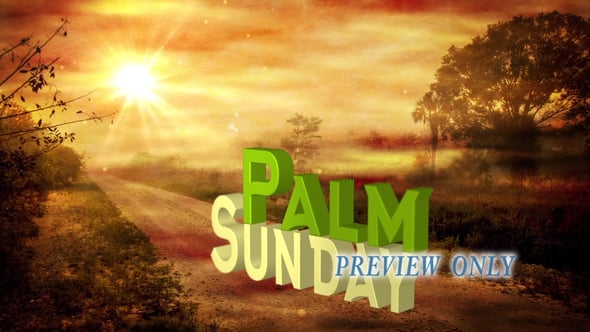 Palm Sunday 3D Title Background
