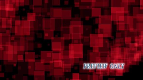 Rotating Red Geometric Shapes
