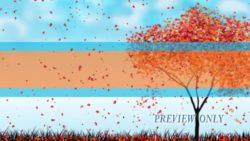 Title Ready: Autumn Falling Leaves