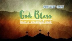 God Bless Three Crosses Text