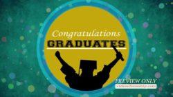 Congratulations Graduates Motion