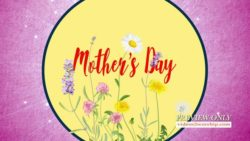 Mothers Day Floral Title Background
