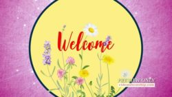 Mothers Day Pink Floral Welcome