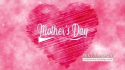 Mothers Day Pink Heart And Text