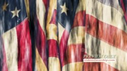 American Patriotic Flags Background