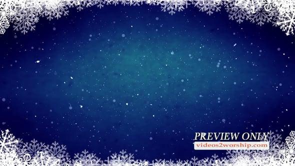 Sparkling Snow Christmas Backdrop