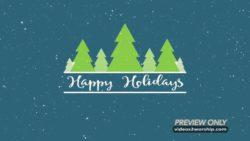 Happy Holidays Background Title