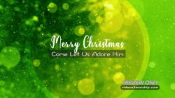 Green Merry Christmas Title Motion