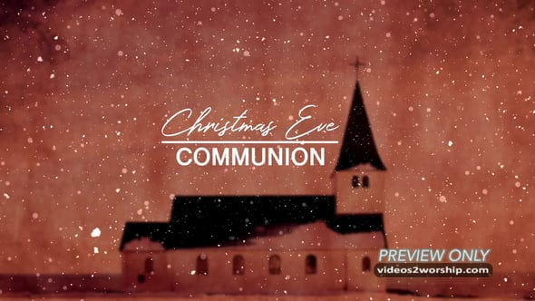 Church Christmas Eve Communion