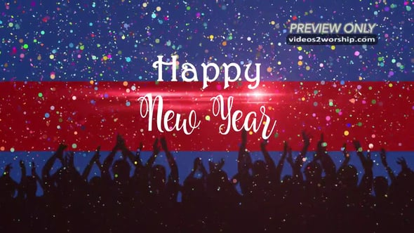 Happy New Year Title Background