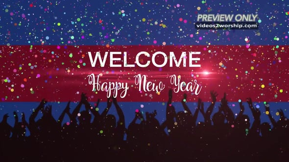 New Year Welcome Title Motion
