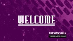 Free Welcome Motion Backdrop