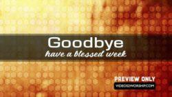 Sweet Goodbye Church Background